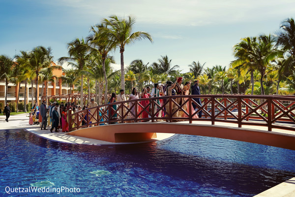 Baraat Ceremony in Barcelo Riviera Maya Sikh Wedding by QuetzalPhoto