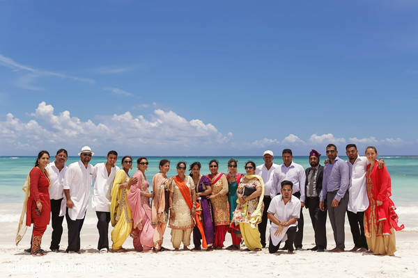 Beachfront Wedding Venue in Barcelo Riviera Maya Sikh Wedding by QuetzalPhoto