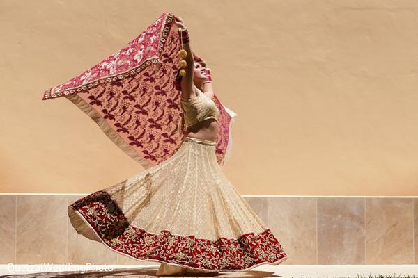 Indian Bridal Portrait in Barcelo Riviera Maya Sikh Wedding by QuetzalPhoto