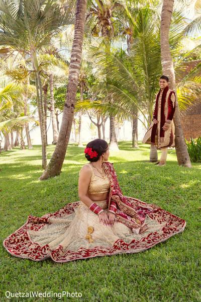 Indian Wedding Portrait in Barcelo Riviera Maya Sikh Wedding by QuetzalPhoto