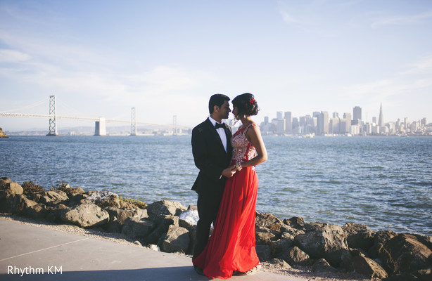 Couple portrait in San Jose, CA, Indian Wedding by Rhythm Krishna Mohan