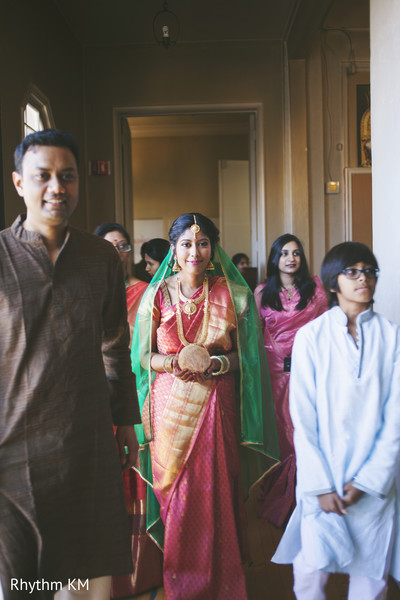 South Indian Bridal Look in San Jose, CA, Indian Wedding by Rhythm Krishna Mohan