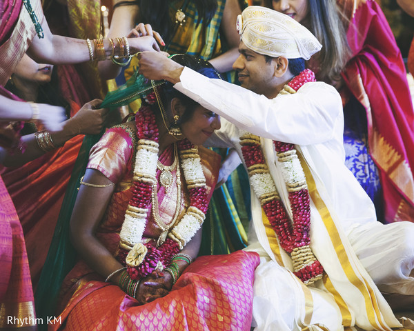 Mangalsutra ritual in San Jose, CA, Indian Wedding by Rhythm Krishna Mohan