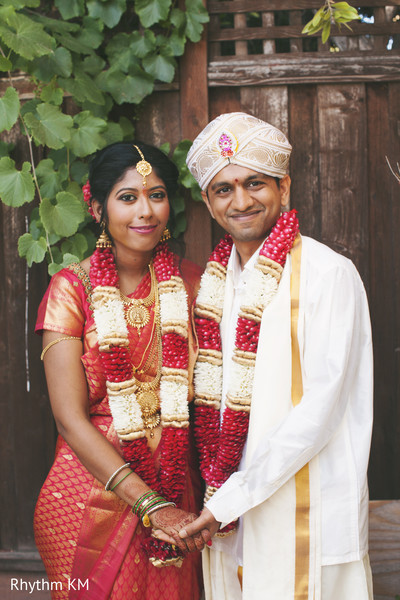 South Indian wedded couple in San Jose, CA, Indian Wedding by Rhythm Krishna Mohan