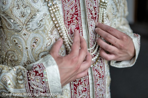 Sherwani Groom Fashion in Columbus, Ohio Indian Wedding by Steve Lyons Wedding Photography