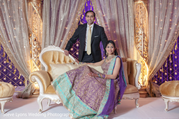Bride and Groom Reception Portrait in Columbus, Ohio Indian Wedding by Steve Lyons Wedding Photography