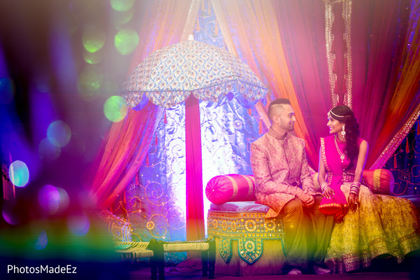indian bride and groom pre-wedding reception portrait,indian wedding photography