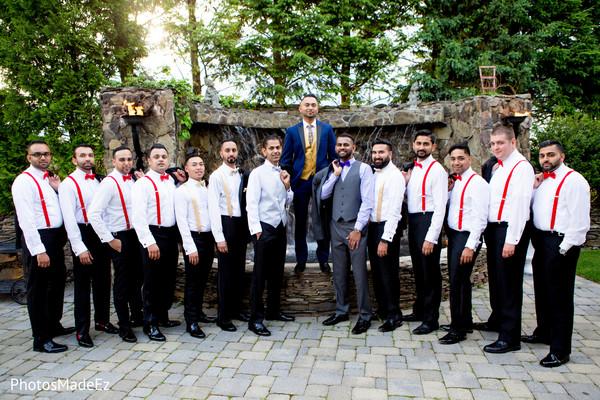 Indian groomsmen with groomsmen.