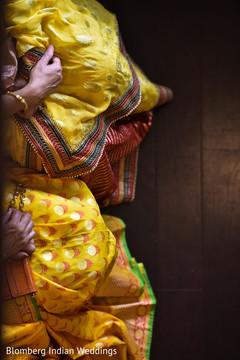 sari,yellow sari,sangeet fashion,sangeet