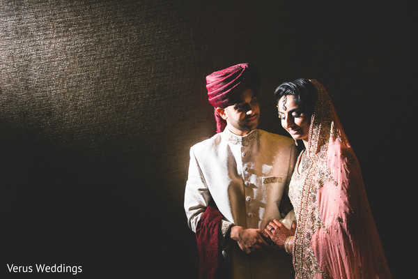 Bride and Groom Portrait in San Jose, CA Indian Wedding by Naveed Ahmad Photography