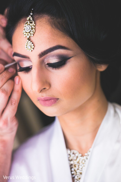 Bride Getting Ready in San Jose, CA Indian Wedding by Naveed Ahmad Photography