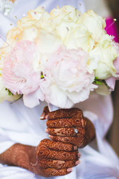 Bridal Bouquet in San Jose, CA Indian Wedding by Naveed Ahmad Photography