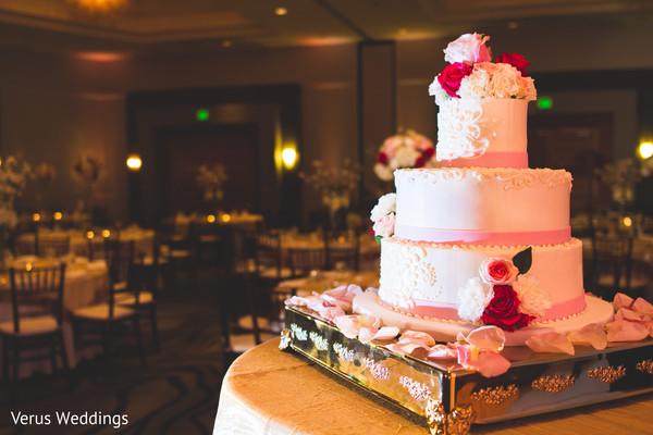 Wedding Cake in San Jose, CA Indian Wedding by Naveed Ahmad Photography