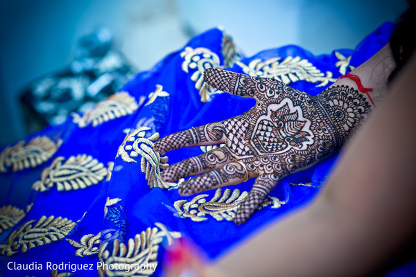 Bridal Mehndi in Cancun, MX Indian Wedding by Claudia Rodriguez Wedding Photography