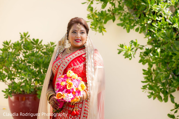 Indian Bridal Portrait in Cancun, MX Indian Wedding by Claudia Rodriguez Wedding Photography