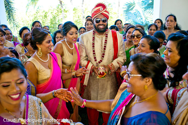 Baraat Ceremony in Cancun, MX Indian Wedding by Claudia Rodriguez Wedding Photography