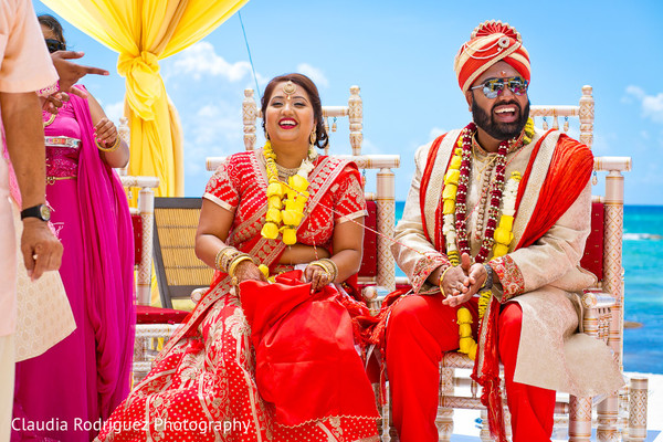 Indian Bride and Groom Destination Wedding in Cancun, MX Indian Wedding by Claudia Rodriguez Wedding Photography