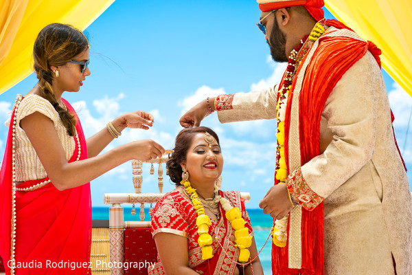 Indian Wedding Ceremony in Cancun, MX Indian Wedding by Claudia Rodriguez Wedding Photography