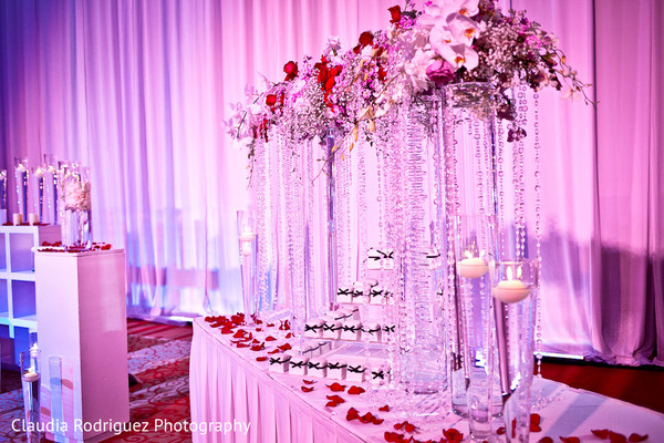 Indian Wedding Reception Decor in Cancun, MX Indian Wedding by Claudia Rodriguez Wedding Photography