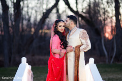 bride and groom portrait,bride and groom,indian bride and groom,indian bride and groom portrait,indian wedding day portrait,bride and groom outdoors,indian fusion wedding day portrait