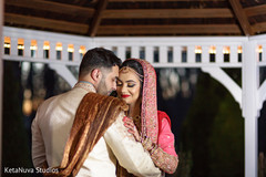 bride and groom portrait,indian wedding day portrait,bride and groom outdoors,indian bride and groom portrait,indian fusion wedding day portrait