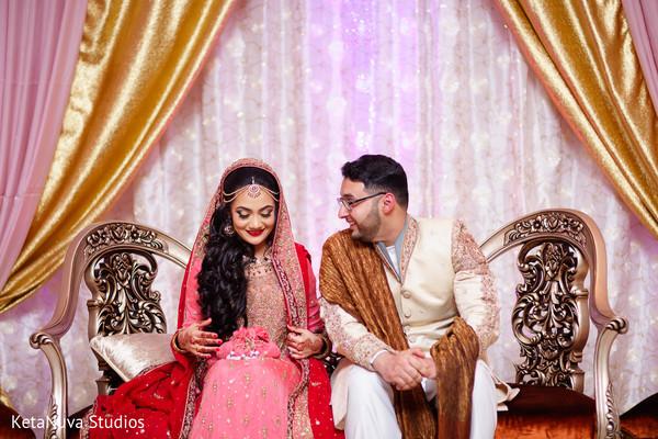 Indian Bride and Groom Portrait