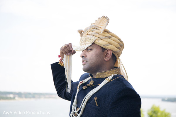 Groom Fashion in Austin, TX Fusion Indian Wedding by A&A Video Productions