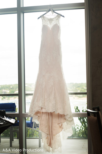 Elegant Wedding Gown in Austin, TX Fusion Indian Wedding by A&A Video Productions