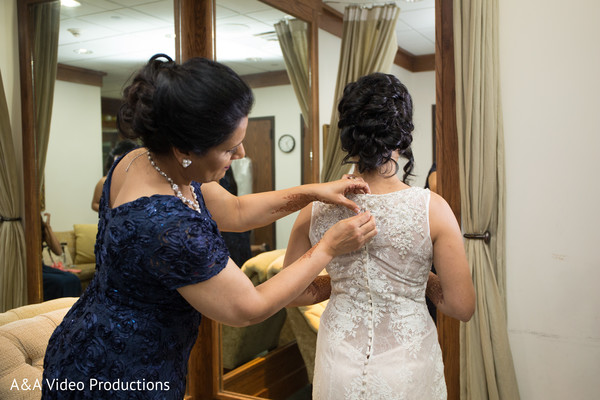 Bride Getting Ready in Austin, TX Fusion Indian Wedding by A&A Video Productions
