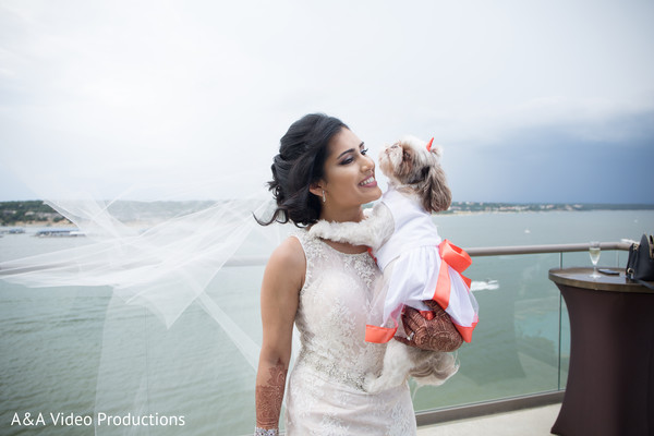 Indian Bride Portrait in Austin, TX Fusion Indian Wedding by A&A Video Productions