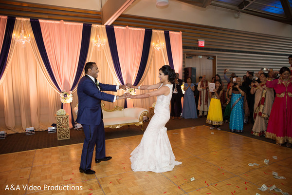 Bride and Groom First Dance in Austin, TX Fusion Indian Wedding by A&A Video Productions