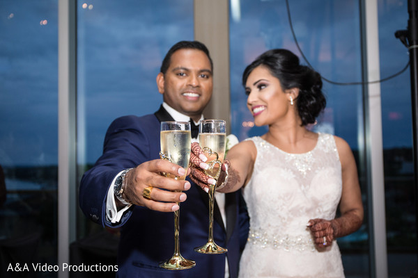 Indian Wedding Reception Toast in Austin, TX Fusion Indian Wedding by A&A Video Productions
