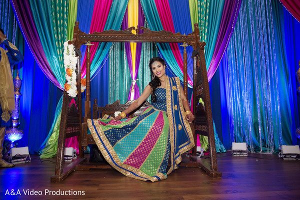 Indian Bridal Portrait in Austin, TX Fusion Indian Wedding by A&A Video Productions