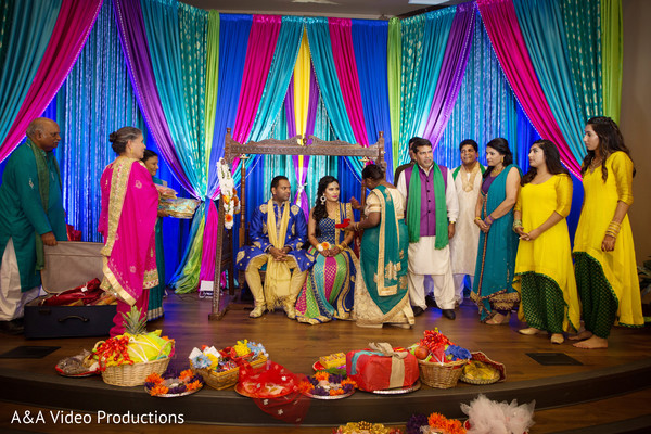 Indian Wedding Pre-Wedding Decor in Austin, TX Fusion Indian Wedding by A&A Video Productions