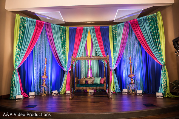 Indian Pre-Wedding Decor in Austin, TX Fusion Indian Wedding by A&A Video Productions