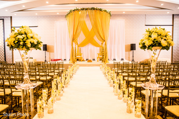 indian wedding ceremony floral and d?cor,draped mandap