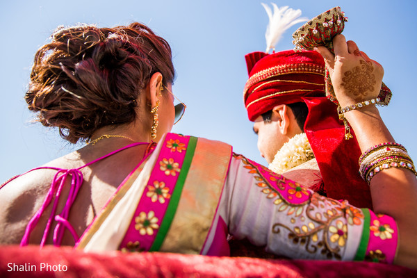Indian groom baraat.