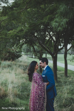 Bride and Groom Portrait, Indian Wedding Day Portrait,  Bride and Groom Outdoors, Indian Bride and Groom Portrait, Indian Fusion Wedding Day Portrait,