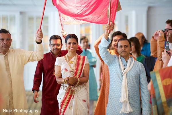 indian bride,indian bridal,indian bridal portrait,indian bride fashions,indian bride style,first look at the bride,bridal entrance