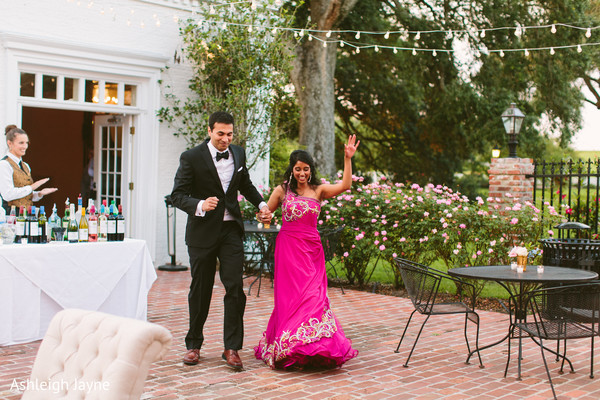 bride and groom portrait,bride and groom reception celebration,indian bride and groom reception celebrations,indian bride and groom,indian bride and groom reception entrance,indian bride and groom first look