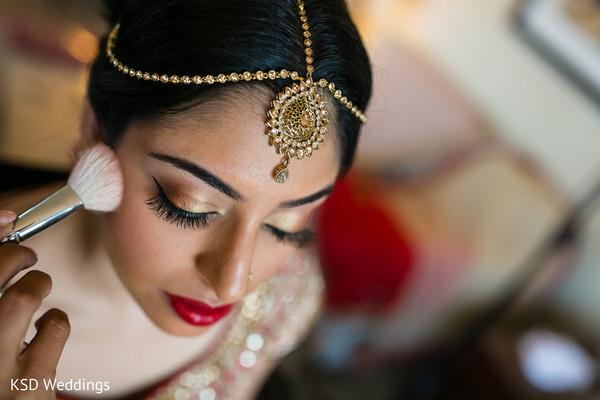 Indian bridal up-do