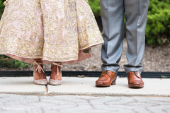 Indian wedding shoes portrait