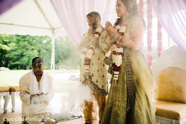Indian Fusion Wedding Day Portrait
