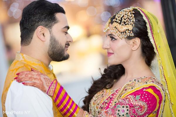 Indian Bride and Groom Mehndi Night Photo