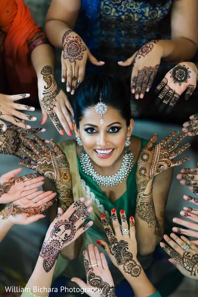 Indian Bride at Mehndi Night