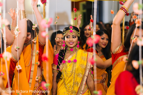 Indian Bride at Gaye Hould (Turmeric Ceremony)
