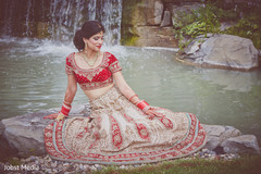 Indian Bridal Portrait, Beautiful Indian Bride, Indian Bride, Bride on Wedding day, Red Wedding Lengha, Lengha Design, Bridal Lengha