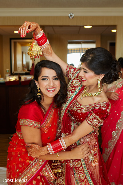 Indian Bride with Family Member