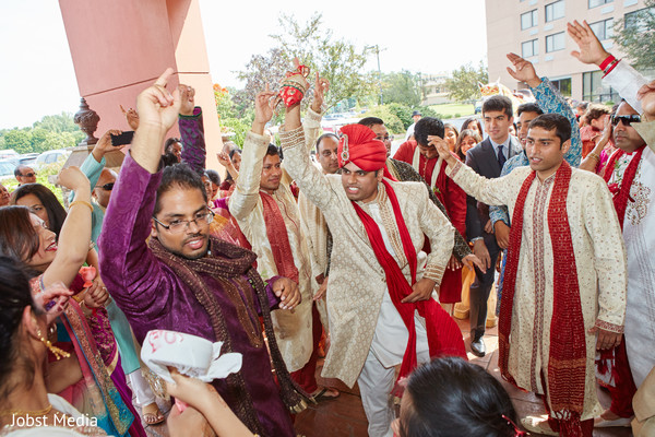 Indian Groom at Baraat Ceremony