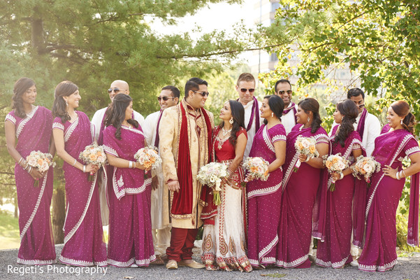indian bridesmaids,indian groomsmen,indian bride